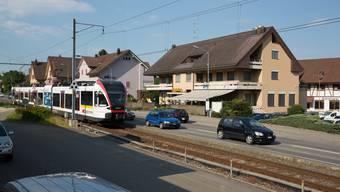 Die neue Haltestelle «Seon Nord» der Seetalbahn wird vis-à-vis vom Restaurant Frohsinn gebaut.