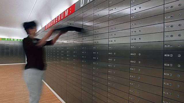 Tresorraum einer Schweizer Bank