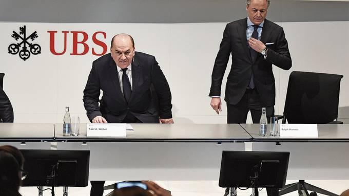 Die UBS-Spitze: Verwaltungsratspräsident Axel Weber stellt Ralph Hamers als CEO vor