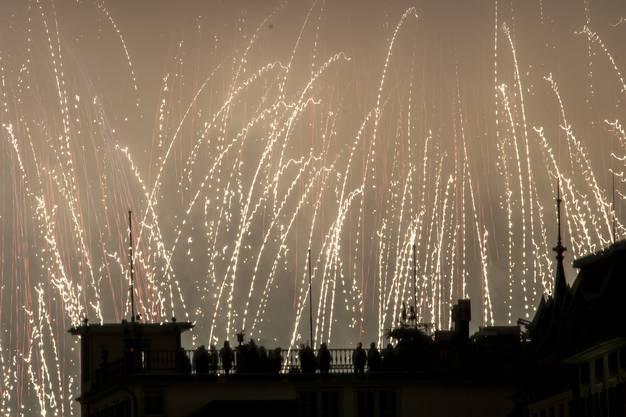 Feuerwerk in Zürich.