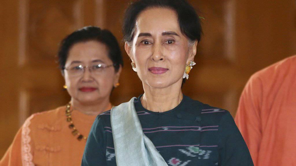 Sie wird neue Aussenministerin Myanmars: Aung San Suu Kyi. (Archivbild)
