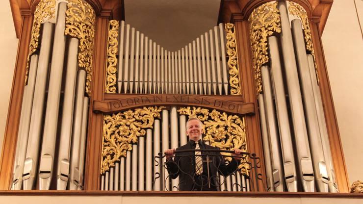 Bernhard Hörler ist seit 25 Jahren Hauptorganist der St. Agathakirche. Bereits mit elf Jahren gab er sein Debut in der St. Josefkirche Dietikon.