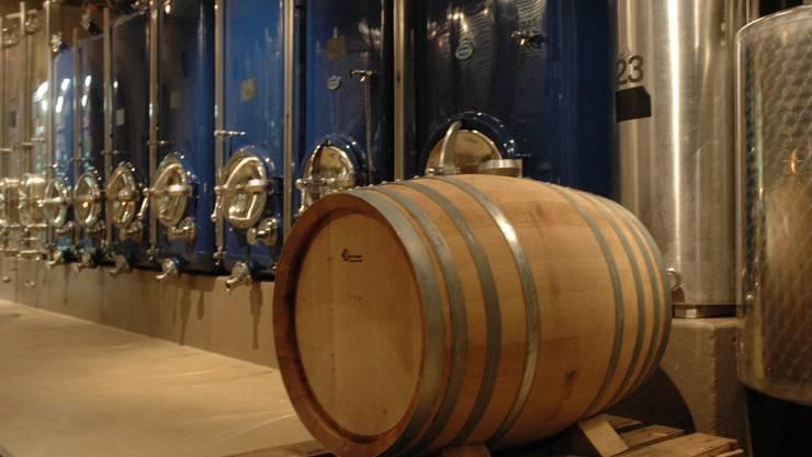 Der Wein reift im Keller, hier im Gasthaus Sternen, Würenlingen. MHU