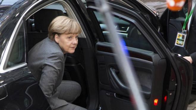 Angela Merkel bei ihrer Ankunft in Brüssel am EU-Spitzentreffen vom 12. Februar. Foto: Keystone