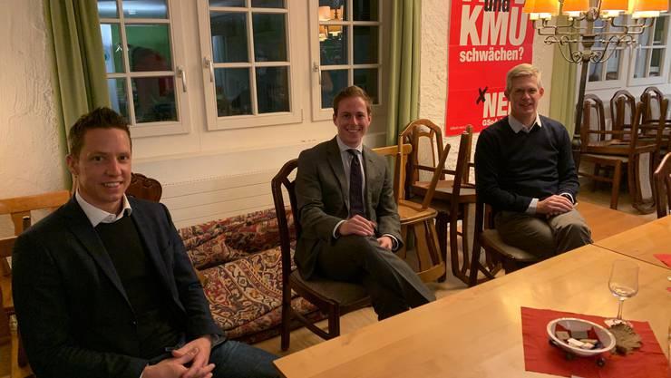 Sprachen zur Versammlung (v.l.): Christian Imark, Philippe Ruf, Rolf Schmid.