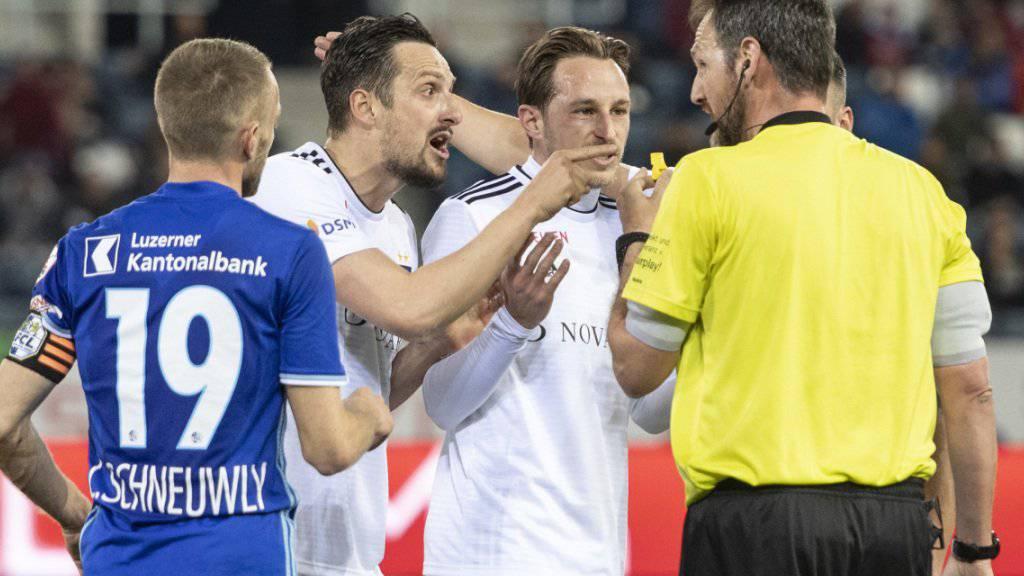 Ein nicht gegebener Treffer in der ersten Halbzeit sorgte für Diskussionsstoff in der Partie zwischen Luzern und Basel