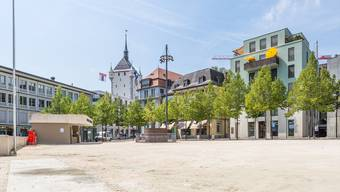Sanierungsfall: Der Badener Theaterplatz – hier im Sommer 2017.