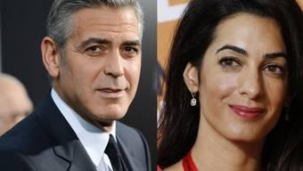 Heiraten wohl doch in Italien: Clooney und Alamuddin (Archiv)
