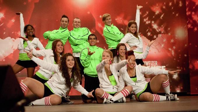 Sie schafften es nicht ins Finale: die Tänzerinnen und Tänzer von «Inzane». zvg/sf