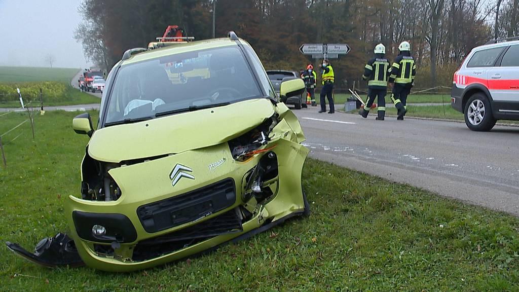 Kollision in Leimbach (TG): Zwei Frauen leicht verletzt