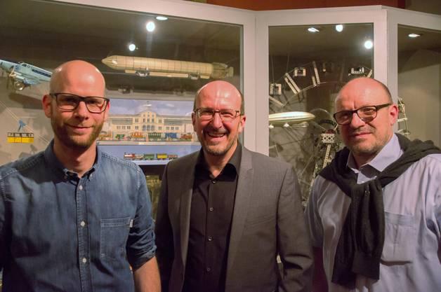 Die Ausstellungsmacher Wissenschaftlicher Mitarbeiter Reto Bschung, Museumsleiter Daniel Kaysel und Kurator Marcel Kaysel