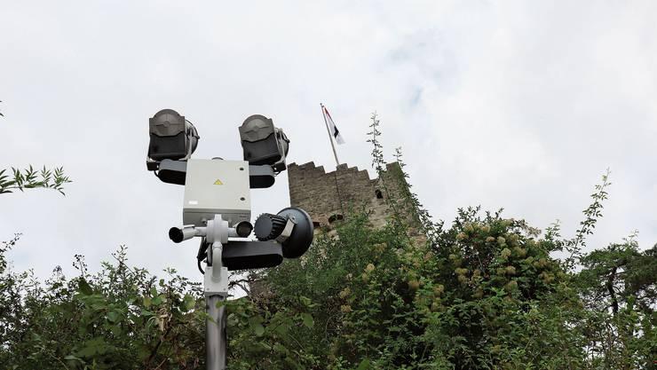 Das Areal um die Ruine Stein wird von Kameras überwacht.
