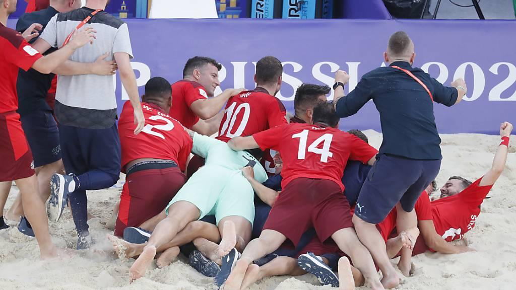 Zweite WM-Medaille für das Schweizer Beachsoccer-Nationalteam