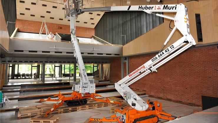 Ewige Baustelle Parktheater? – Hier während der Bühnensanierung im Jahr 2009.