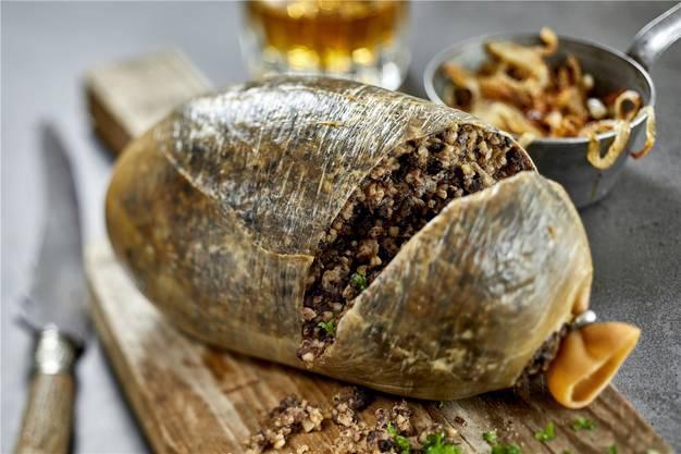 Darf auf keiner schottischen Speisekarte fehlen: Haggis.