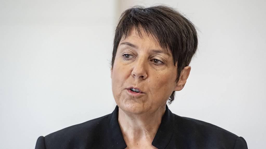 Die Schwyzer Gesundheitsdirektorin Petra Steimen hat heute über die aktuelle Situation informiert. (Archivbild)