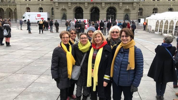 BPW Delegierte von Olten v.l.n.r. Norma Eng, Jolanda Näf, Petra Müller und BP Frauen aus Bern und dem Wallis