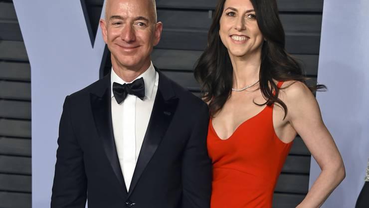 Jeff Bezos und seine Frau MacKenzie haben sich über die Details ihrer Scheidung geeinigt. (Archiv)