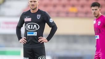 Niedergeschlagene Aarauer in Lausanne: Marco Schneuwly nach der 1:5-Niederlage auf der Pontaise