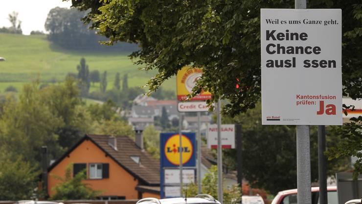 Wortspiele rund um die Fusionsabstimmung der beiden Basel