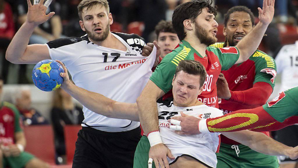 Die Schweizer Handballer liessen sich von Portugal nicht aufhalten
