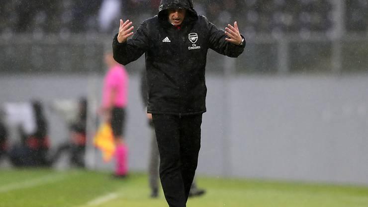 Arsenal-Coach Unai Emery hadert in Guimarães mit seinem Schicksal