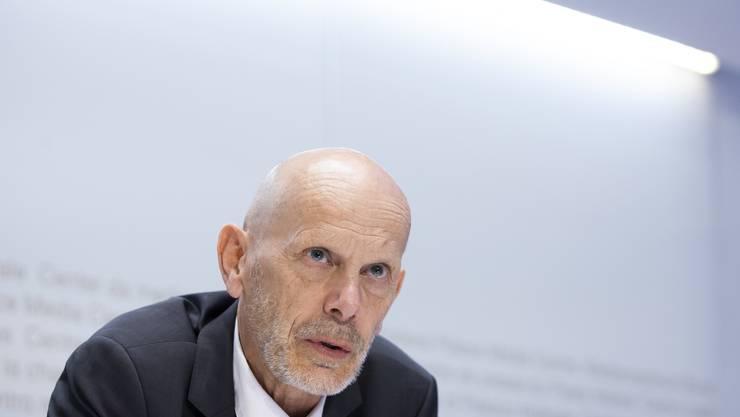 Daniel Koch präzisiert am Freitag vor den Medien in Bern die Pläne des Bundesrates zum Ausstieg aus dem Coronalockdown.