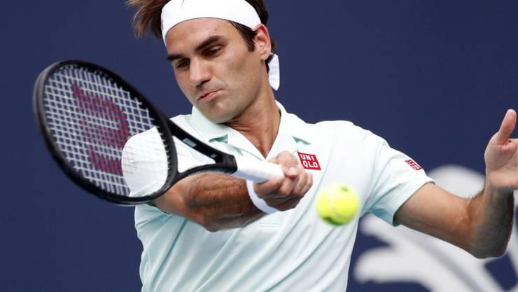 Roger Federer im Drittrunden-Spiel gegen den Serben Filip Krajinovic