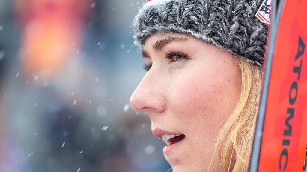 Mikaela Shiffrin fuhr in Sölden auf Platz 3.