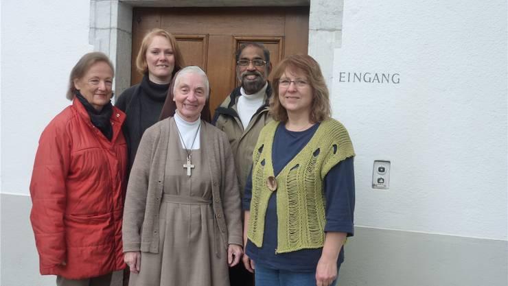 Sie gestalten am Sonntag eine Adventsfeier: Beate Obrecht (Orgel), Regula Iseli (Sopran), Frau Mutter Schwester Marie Dominique, Pater Antony Kolencherry und Susanna Lehmann (Mezzosopran).