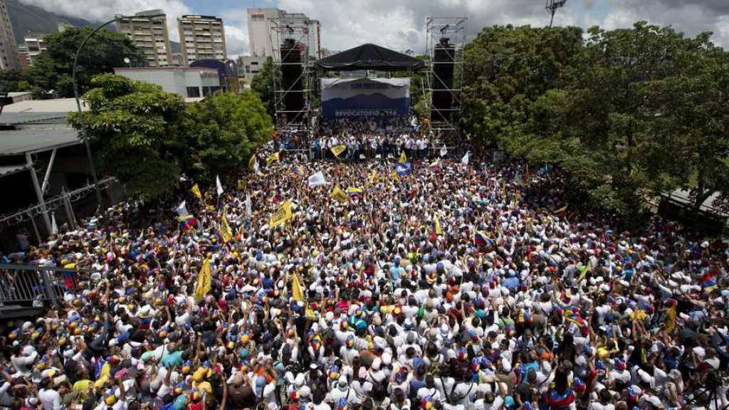 Die «Einnahme von Caracas» durch Regierungsgegner am Donnerstag.