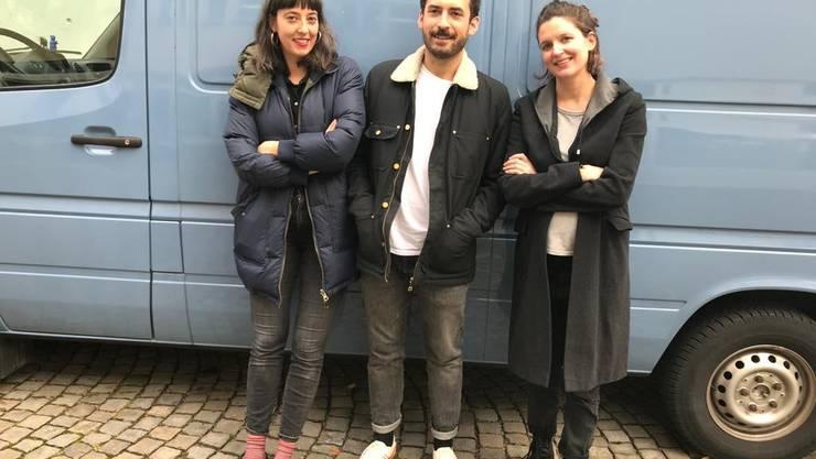 Haben grosse Pläne: Julia Haenni, Luca Schaffer und Barbara Heynen von der Jungen Marie.