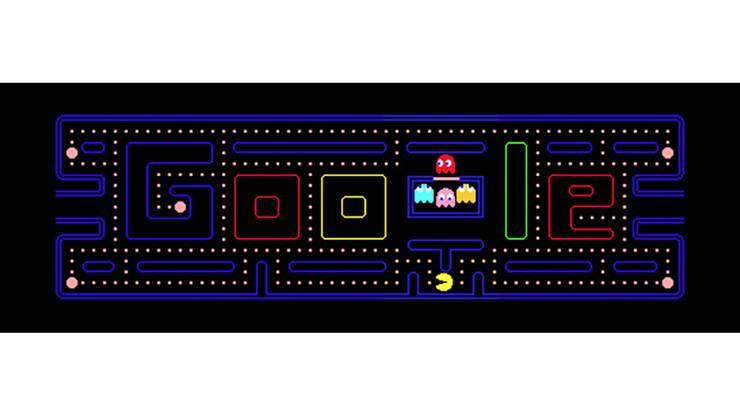 21. Mai 2010: Das Google-Logo wird zum Pacman-Spiel