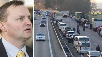 Der Aargauer Nationalrat Bernhard Guhl will gegen diese Unfall-Gaffer vorgehen.