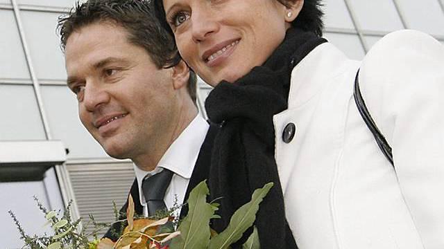 Bruderer an der Seite ihres Ehemannes Urs Wyss in Aarau