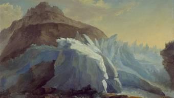 Caspar  Wolf: Die Schwarze Lütschine aus dem Untern Grindelwaldgletscher entspringend von 1777. (Bild Kunstmuseum Bern)