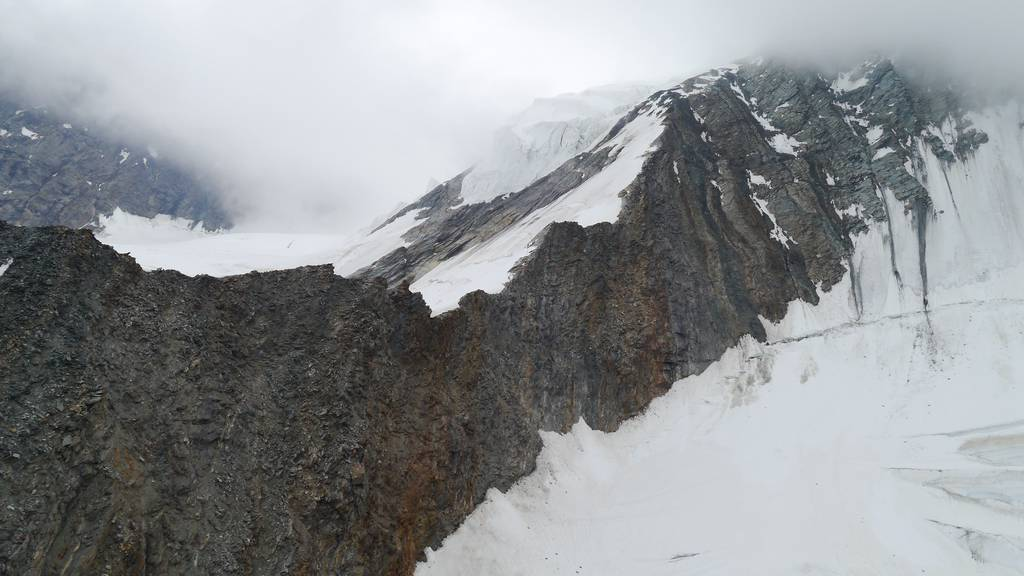 Der Dom in Randa: Hier stürzten die beiden Alpinisten ab.