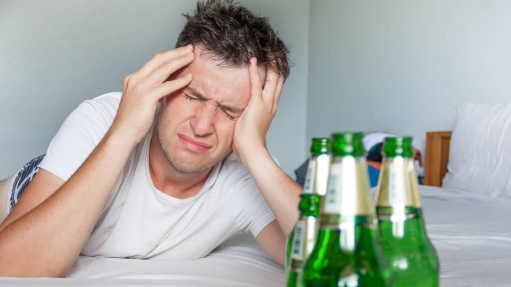 Alkohol-Kater ist eine Krankheit