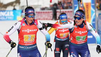 Die angestrebte Medaille verpasst: Selina (re.) und Aita Gasparin in der Frauenstaffel