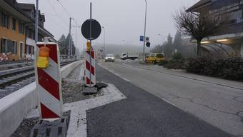 Die Baselstrasse noch während des Baus. (Archiv)