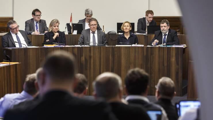 Blick in den Kantonsratssaal während der Debatte.
