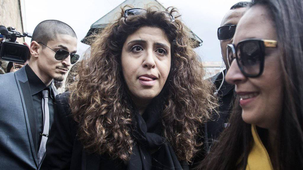 Soll den angeklagten Priester emotional erpresst haben: Mitangeklagte Francesca Chaouqui trifft beim Gericht in Vatikanstadt ein.