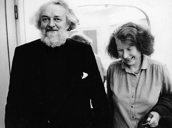 Ein Bild aus glücklichen Tagen: Lotte Ingrisch mit ihrem Mann Gottfried von Einem um 1980. Er war ein bekannter Komponist.