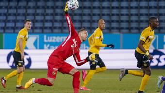 YB-Goalie David von Ballmoos sieht auch Vorteile in den Geisterspielen: «Jetzt kann sich keiner mehr damit herausreden, er habe mich nicht gehört.»