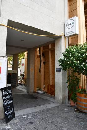 Der Hinterhof der «Kiste» ist zurzeit der unschöne Eingang zum «Buono».