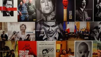Augenfällig in Daniel G. Andújars neuer Ausstellung «Konfliktzonen»: Die Werbeplakate, die mit mächtigen politischen Führern und Diktatoren spielen.