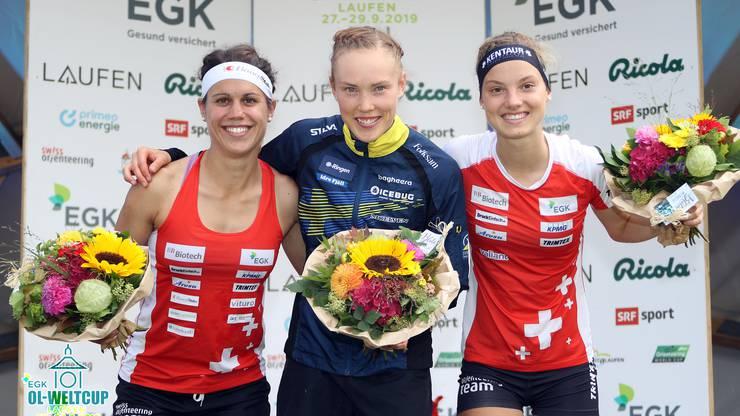 Elena Roos (2. Rang) und Simona Aebersold (3.Rang) sorgen für Schweizer Freudentag.