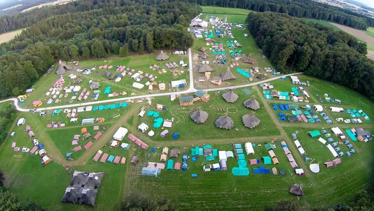 Rund 1500 Personen wohnten hier im Dorf auf Zeit in Walliswil bei Wangen.