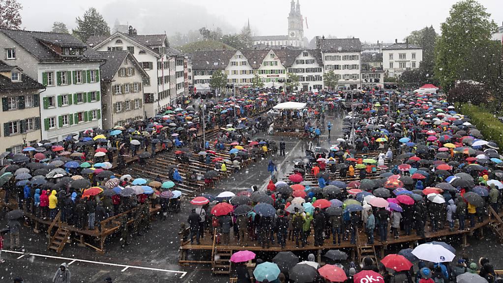 Die Glarner Landsgemeinde 2021 soll am 5. September mit Maskenpflicht stattfinden. (Archivbild von 2019)