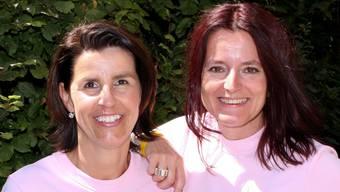 Die Wettinger Freundinnen Eliane Walter (l.) und Sandra Eglin.SAN